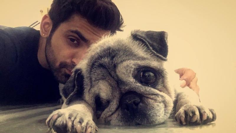 Arjit Taneja with his pet