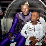 Asamoah Gyan and son Floyd Gyan