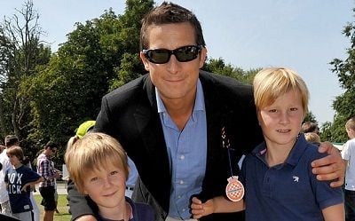 Bear Grylls with his Children Jesse and Marmaduke