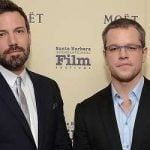 Ben Affleck with his childhood friend Matt Damon