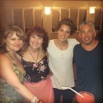 Bradley Simpson with his family (Left to right-Mother, Sister, Bradley & Father)