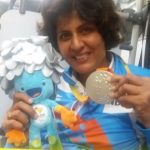 Deepa Malik with Paralympic silver medal