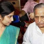 Dimple Yadav with Mulayam Singh Yadav