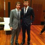 Gerard pique with his brohter Marc
