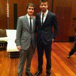 Gerard pique with his brohter Marc