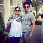Harman Virk with his mother