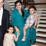Hina Rabbani Khar with her daughters