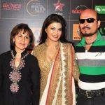 Jacqueline Fernandez with her parents