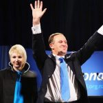 John Key with his daughter Stephie Key