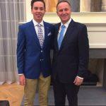 John Key with his son Max Key