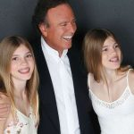 Julio Iglesias with his twins Victoria and Cristina