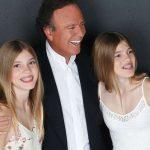 Julio Iglesias with his twins Victoria and Cristina