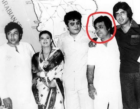 Kader Khan With Amitabh Bachchan