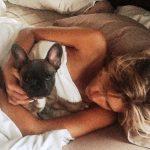 Kayla Reid with her pet dog