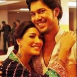 Mehwish Hayat with her brother