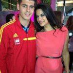Morata with girlfriend Carla Barber