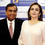 Nita Ambani with her husband Mukesh Ambani