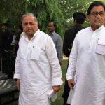 Mulayam Singh Yadav with his brother Ram Gopal Yadav