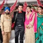 Navraj Hans with his family