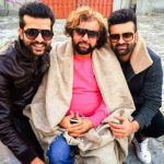 Navraj Hans with his father and brother