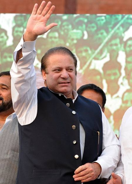 Nawaz Sharif in Rally in Pakistan