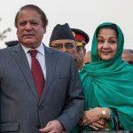 Nawaz Sharif with his Wife