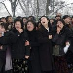 North Korean weeping on kim Jong ill death