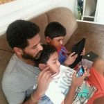 Prabhu Deva with his kids