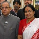 Pranab Mukherjee with his wife