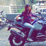 Pranati Rai Prakash riding superbike