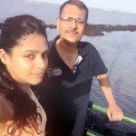 Pranati Rai Prakash with her father