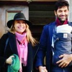 Purab Kohli with his wife and Daughter