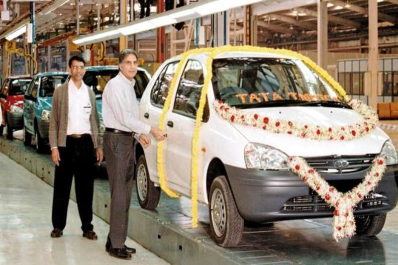 Ratan Tata at the Launch of Tata Indica