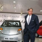 Ratan Tata with Nano Car