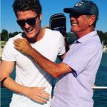 Richie Strahan with his father