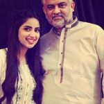 Saboor Ali with her father