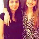 Saboor Ali with her sister