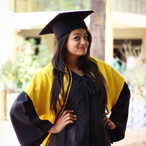 Samiksha Jaiswal on her convocation ceremony