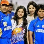 Sara Tendulkar with her parents and brother