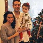 Shruti seth with husband & daughter Alina
