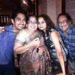 Siddharth with his parents and sister