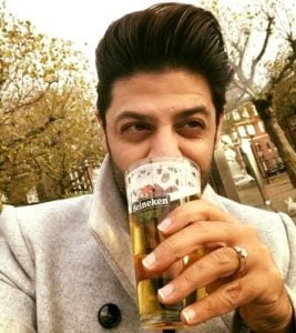 Ssumier Pasricha drinks alcohol