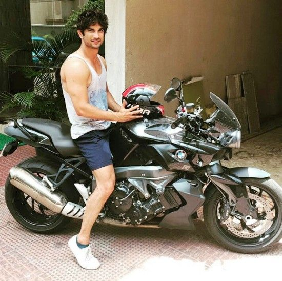 Sushant Singh Rajput riding his BMW bike