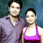 Tamannaah Bhatia with her brother