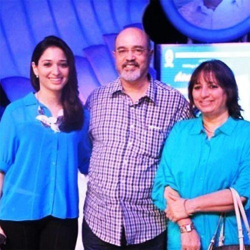 Tamannaah Bhatia with her parents