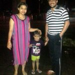 Trupti Desai with her son and husband