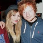 Ed Sheeran with his ex-girlfriend Nina Nesbitt