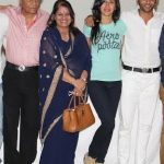 Karanvir Bohra with his parents and wife Teejay Sidhu