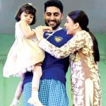 Abhishek Bachchan With His Wife And Daughter