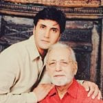 Adnan Siddiqui with his father
